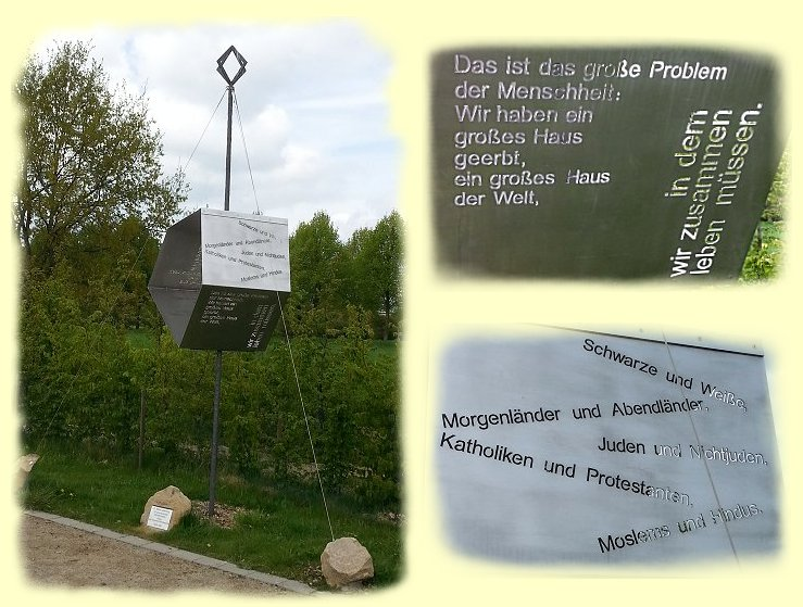 Wortskulptur - Martin Luther King